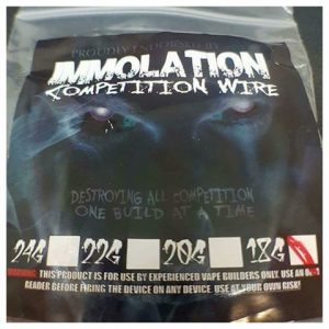 Immolation Competition Wire