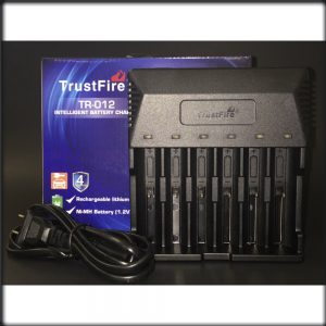 Trustfire TR-012 6 Slots Intelligent Battery Charger LCD Display for Rechargeable Li-ion Ni-MH Battery