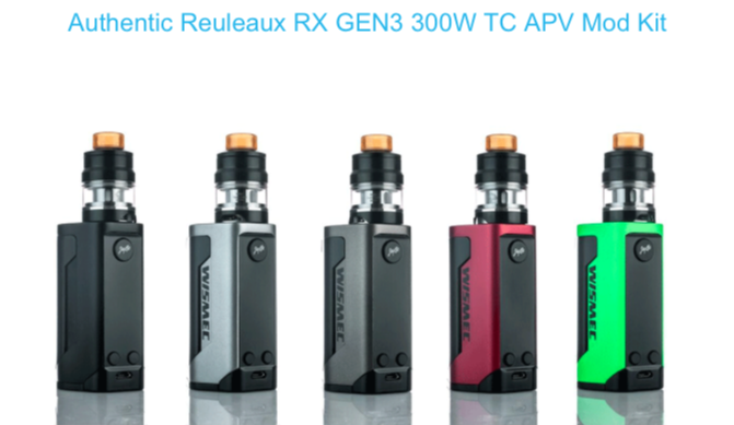 RX Gen 3 by Wismec 300watt Regulated Mod
