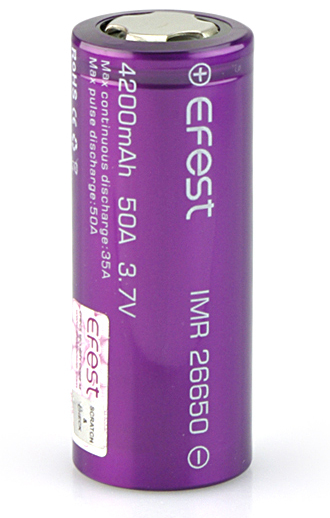 EFEST PURPLE IMR 26650 BATTERY 4200MAH
